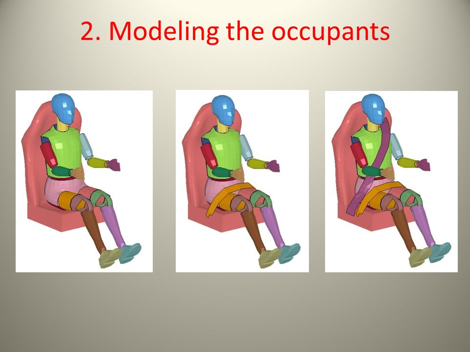 2. Modeling the occupants