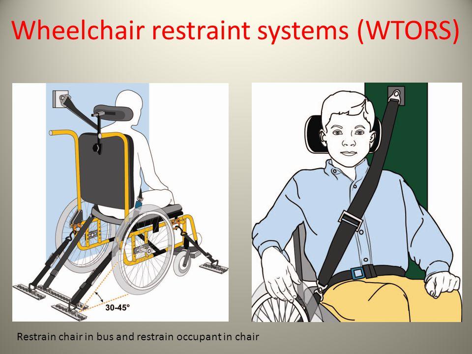 Wheelchair restraint systems (WTORS)