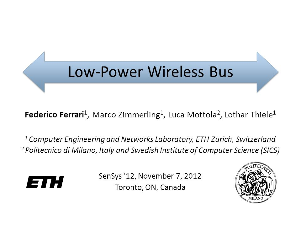 Low-Power Wireless Bus