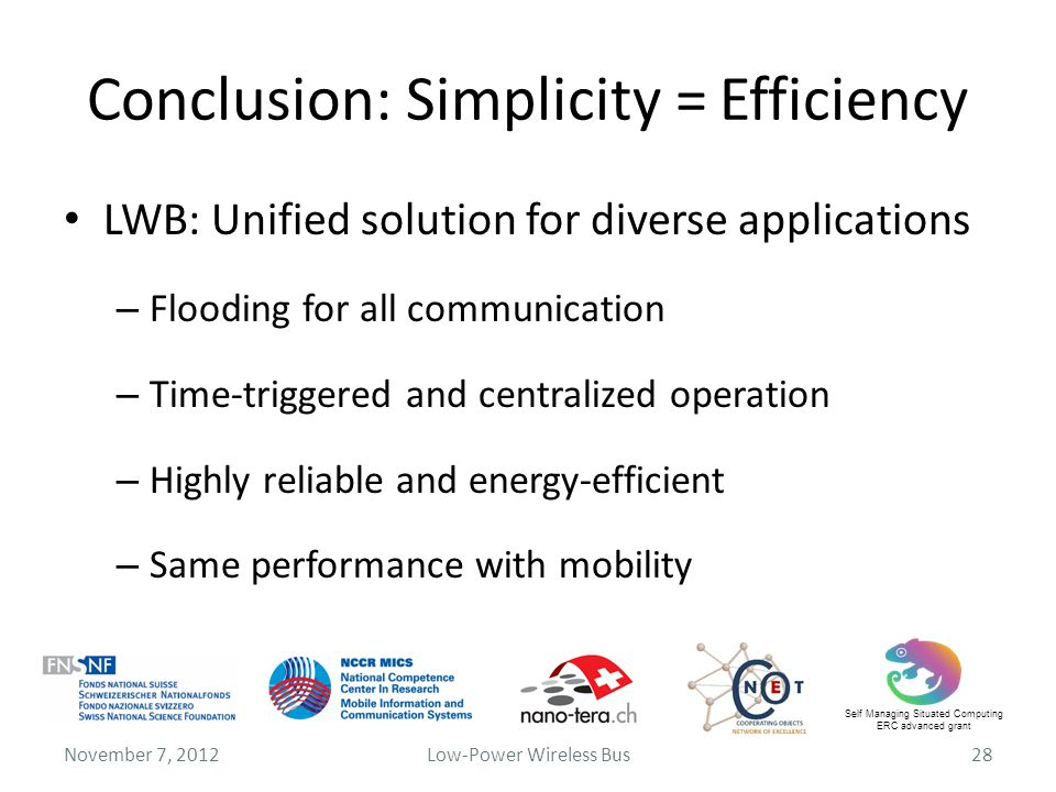 Conclusion: Simplicity = Efficiency