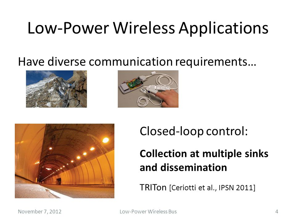 Low-Power Wireless Applications