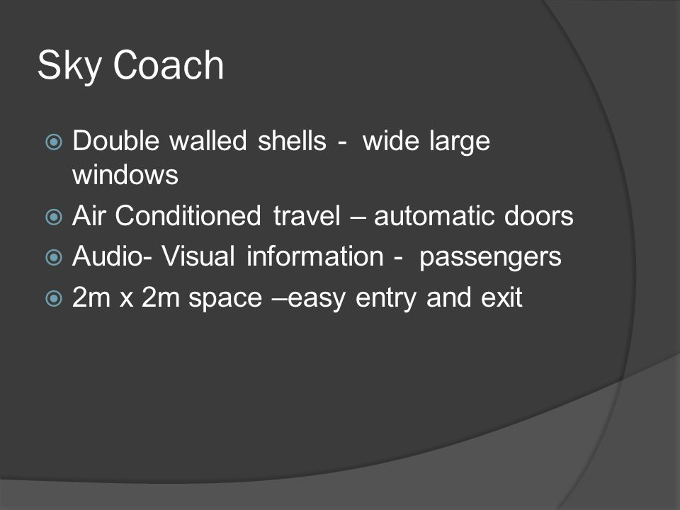Sky Coach Double walled shells - wide large windows