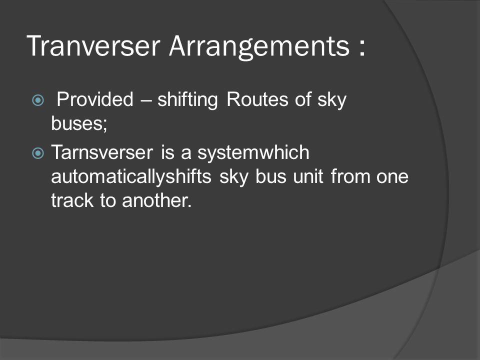 Tranverser Arrangements :