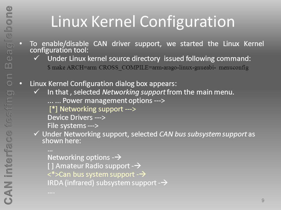 Linux Kernel Configuration