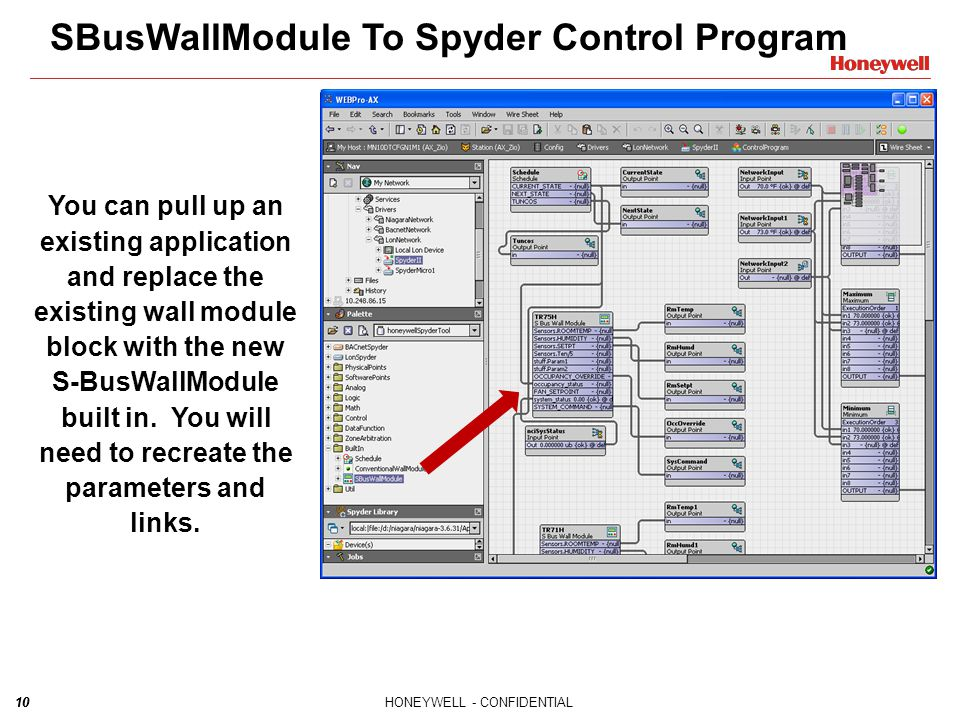 SBusWallModule To Spyder Control Program