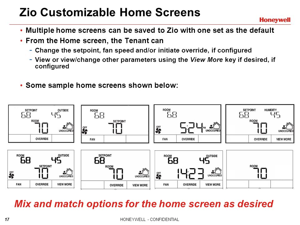 Zio Customizable Home Screens