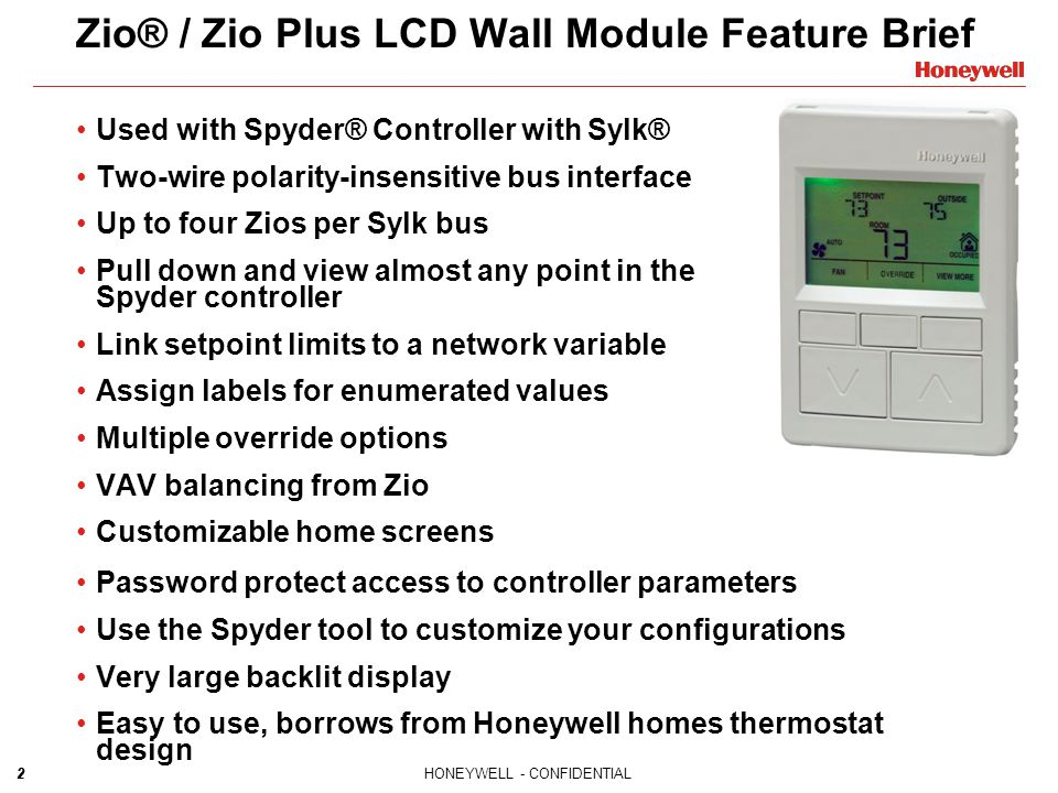 Zio® / Zio Plus LCD Wall Module Feature Brief