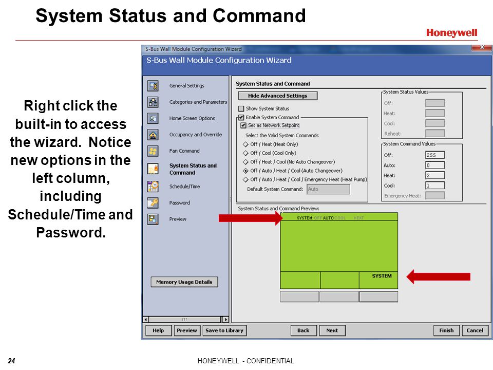 System Status and Command
