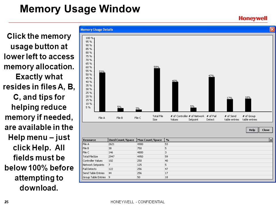 Memory Usage Window
