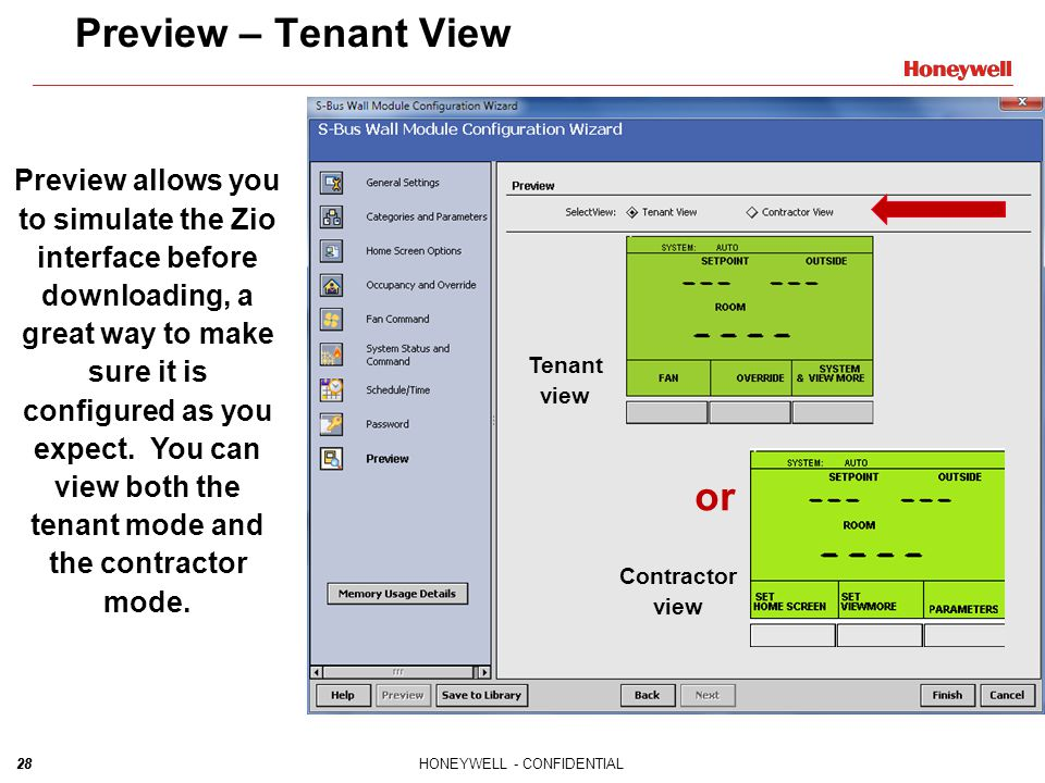Preview – Tenant View or