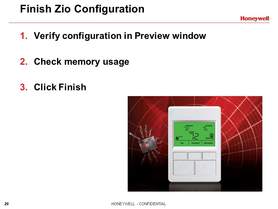 Finish Zio Configuration