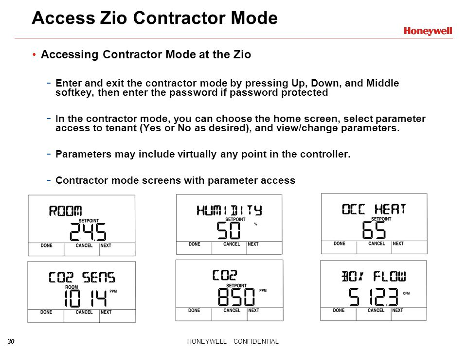 Access Zio Contractor Mode