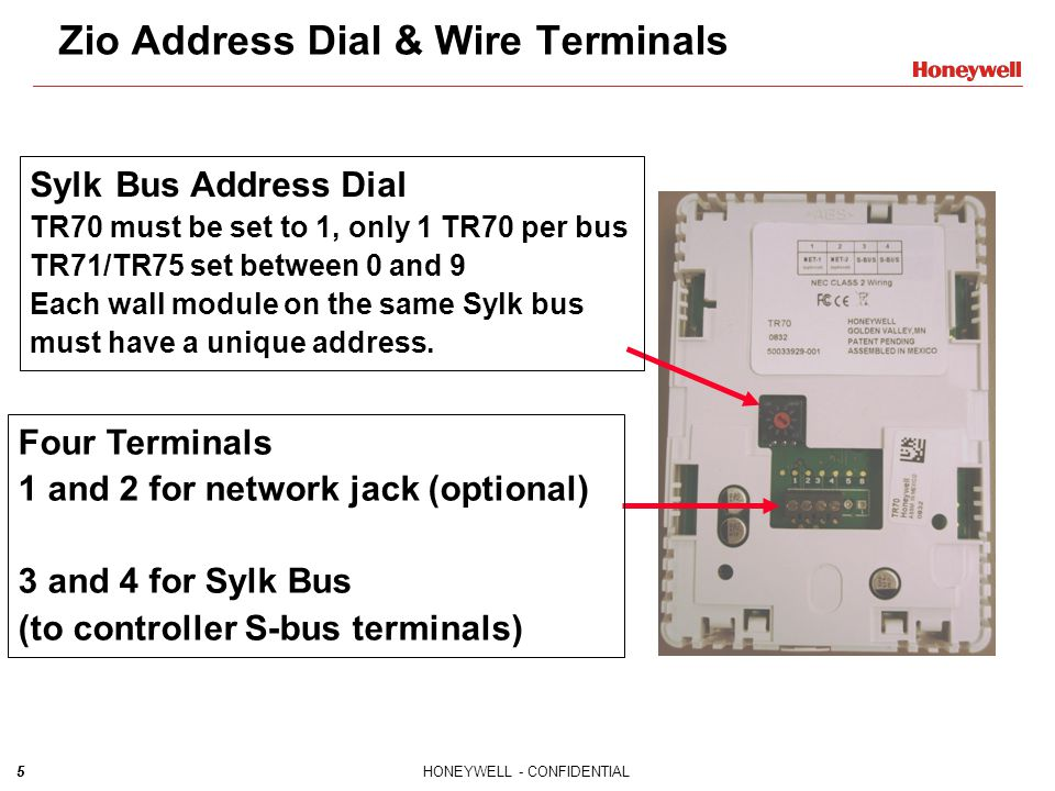 Zio Address Dial & Wire Terminals