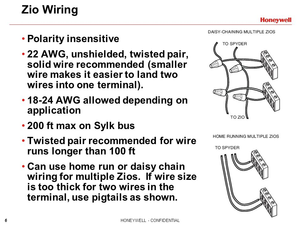 Zio Wiring Polarity insensitive