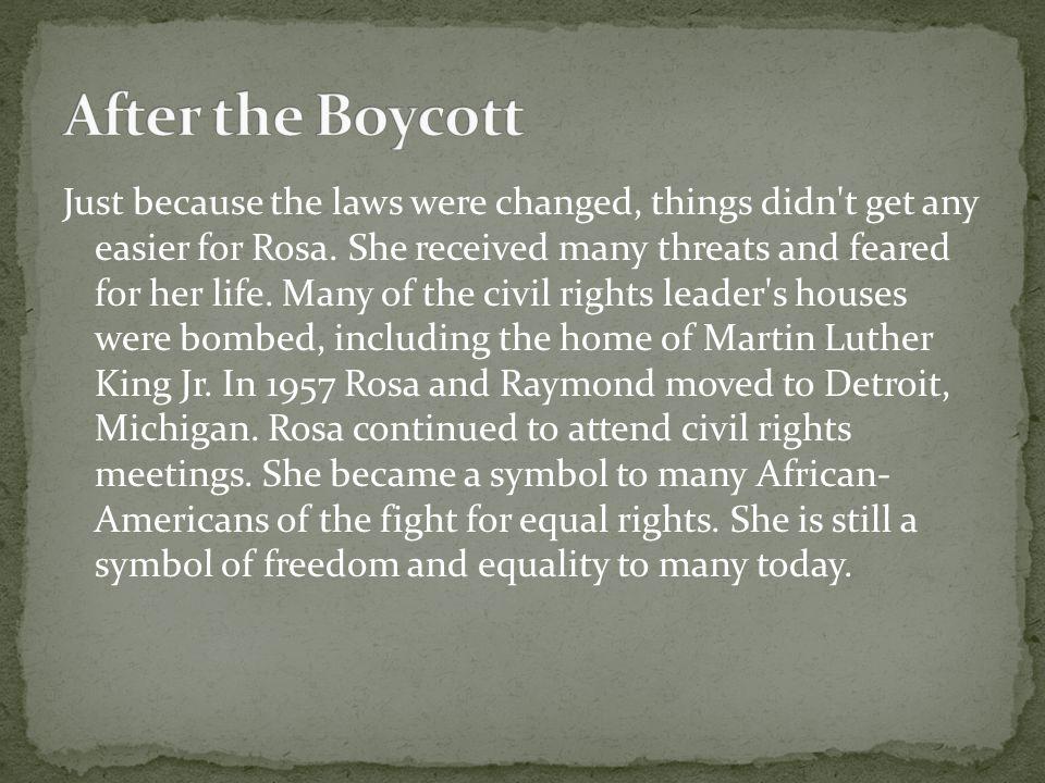 After the Boycott
