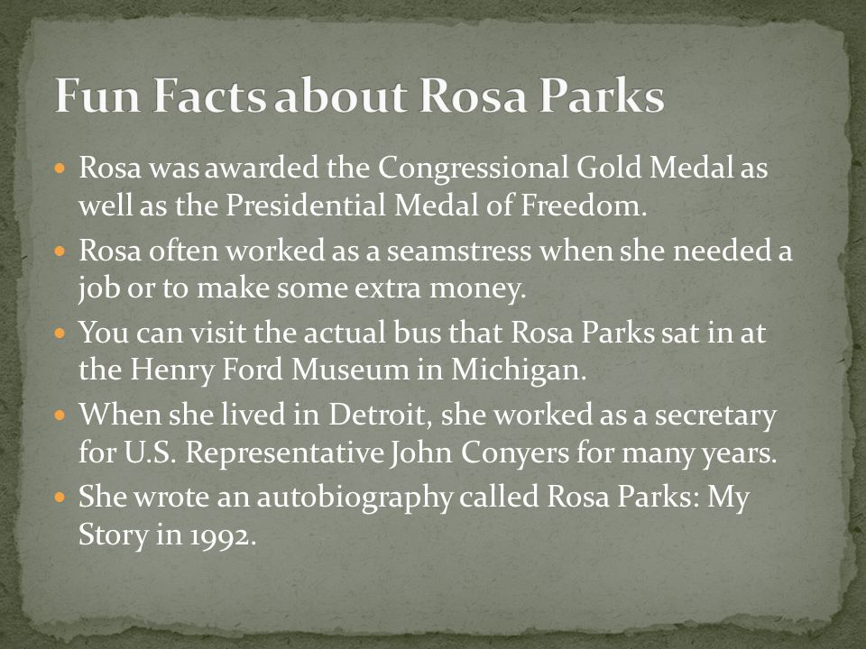Fun Facts about Rosa Parks