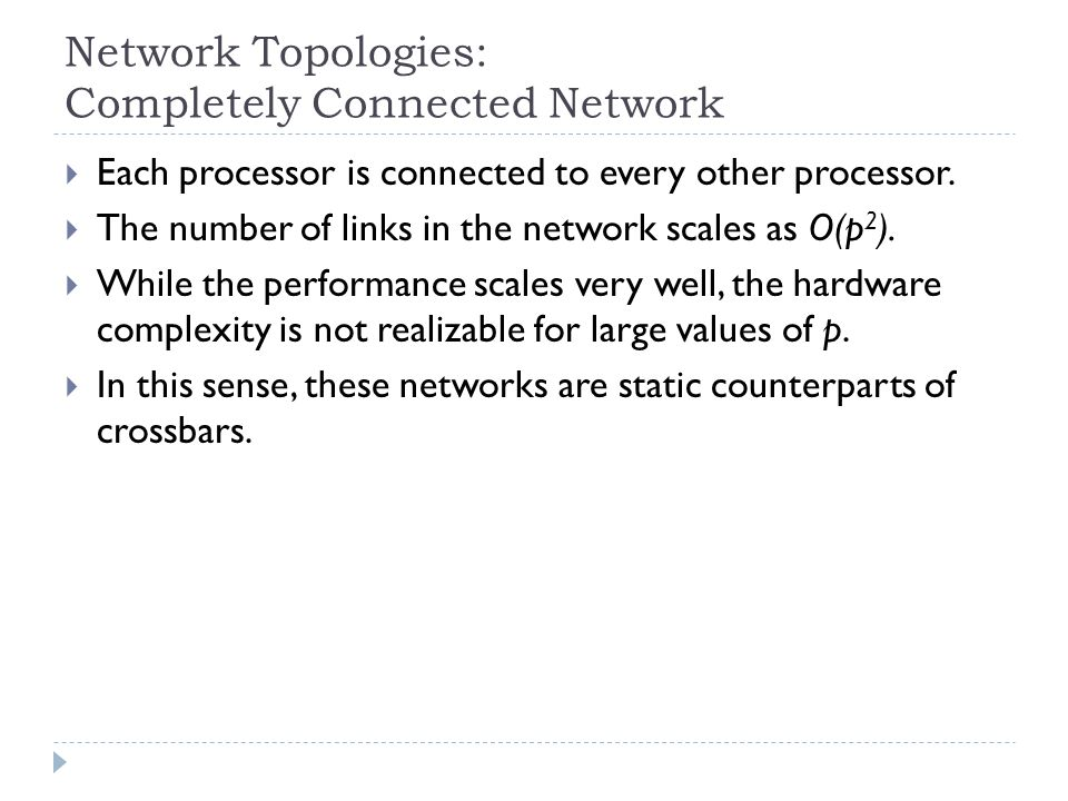 Network Topologies: Completely Connected Network