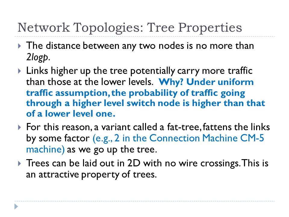 Network Topologies: Tree Properties