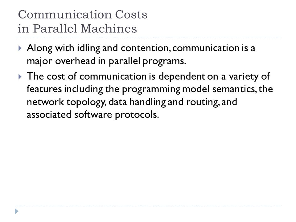 Communication Costs in Parallel Machines