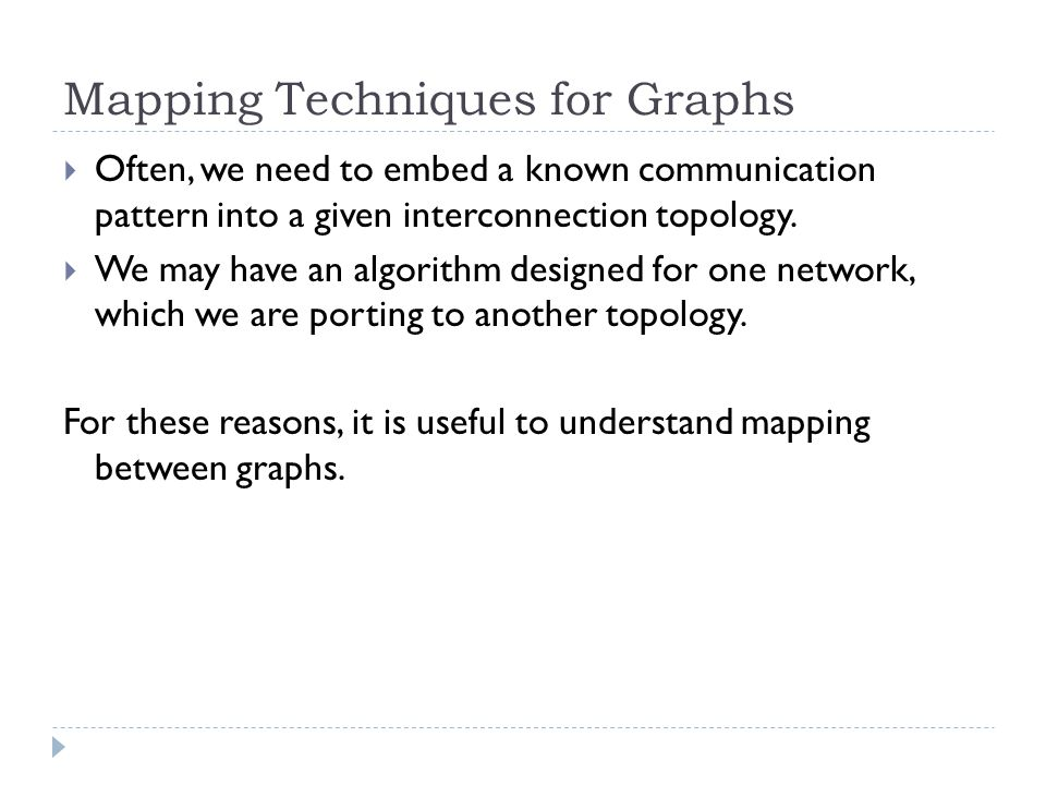 Mapping Techniques for Graphs