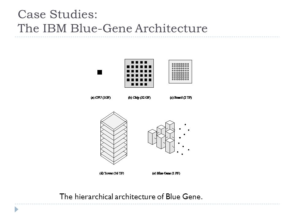 Case Studies: The IBM Blue-Gene Architecture