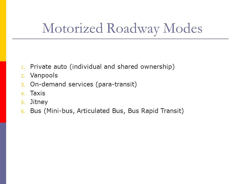 Motorized Roadway Modes
