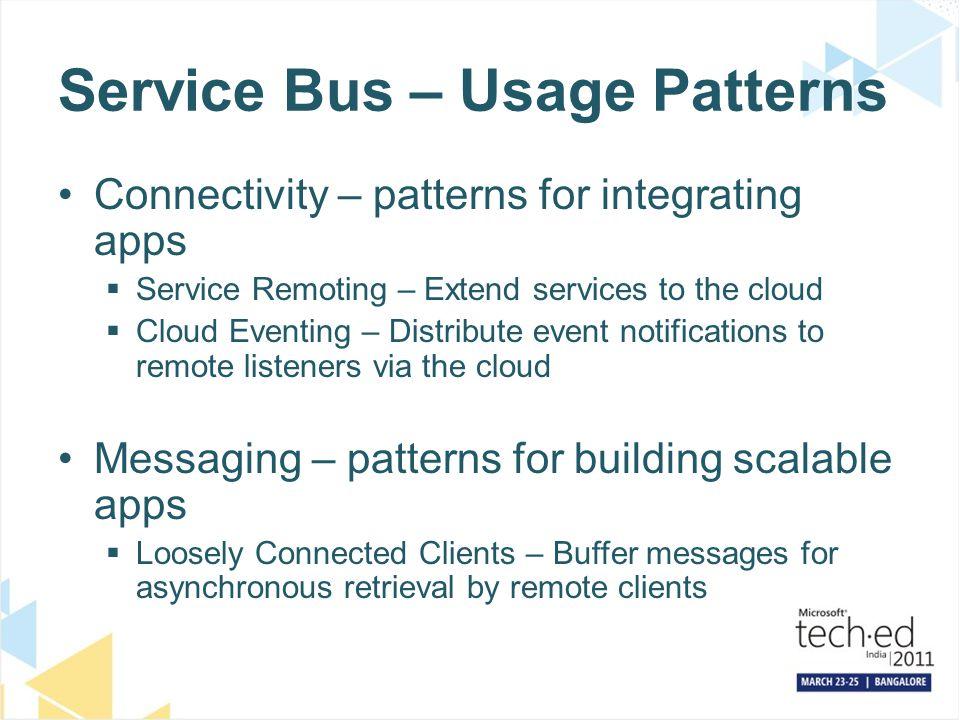 Service Bus – Usage Patterns