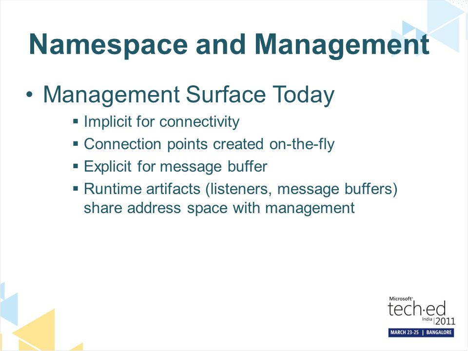 Namespace and Management