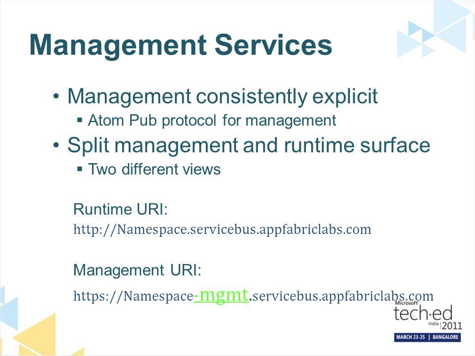 Management Services Management consistently explicit