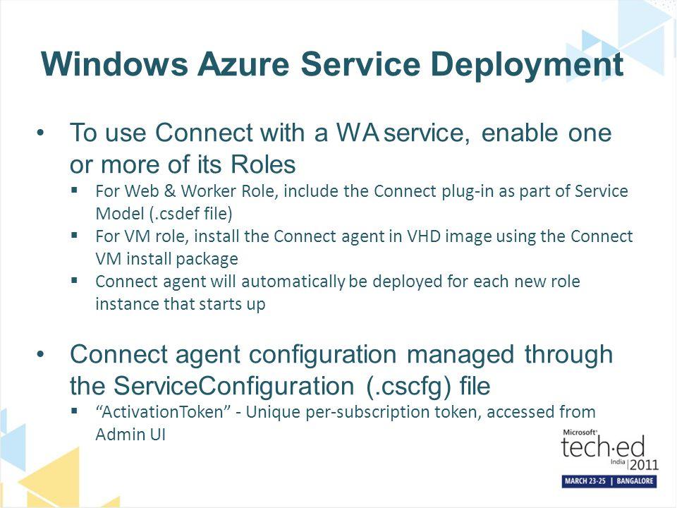 Windows Azure Service Deployment