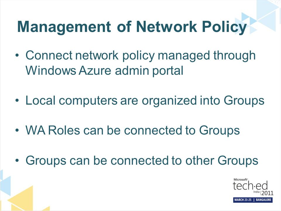 Management of Network Policy