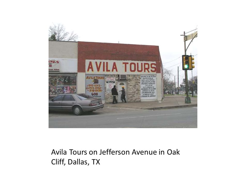 Avila Tours on Jefferson Avenue in Oak Cliff, Dallas, TX