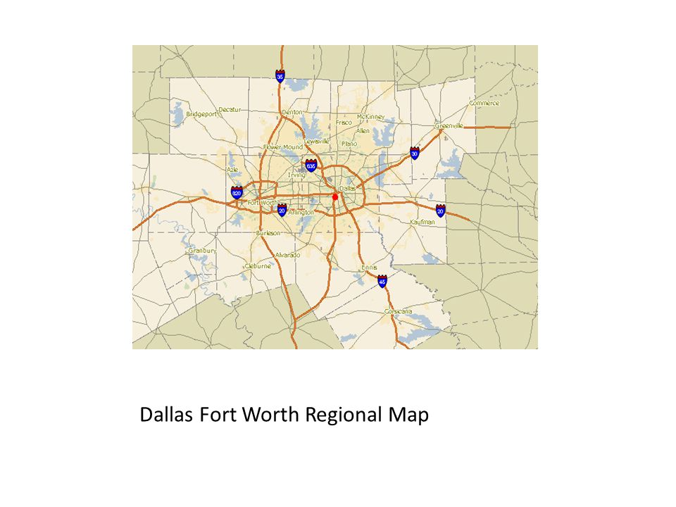 Dallas Fort Worth Regional Map