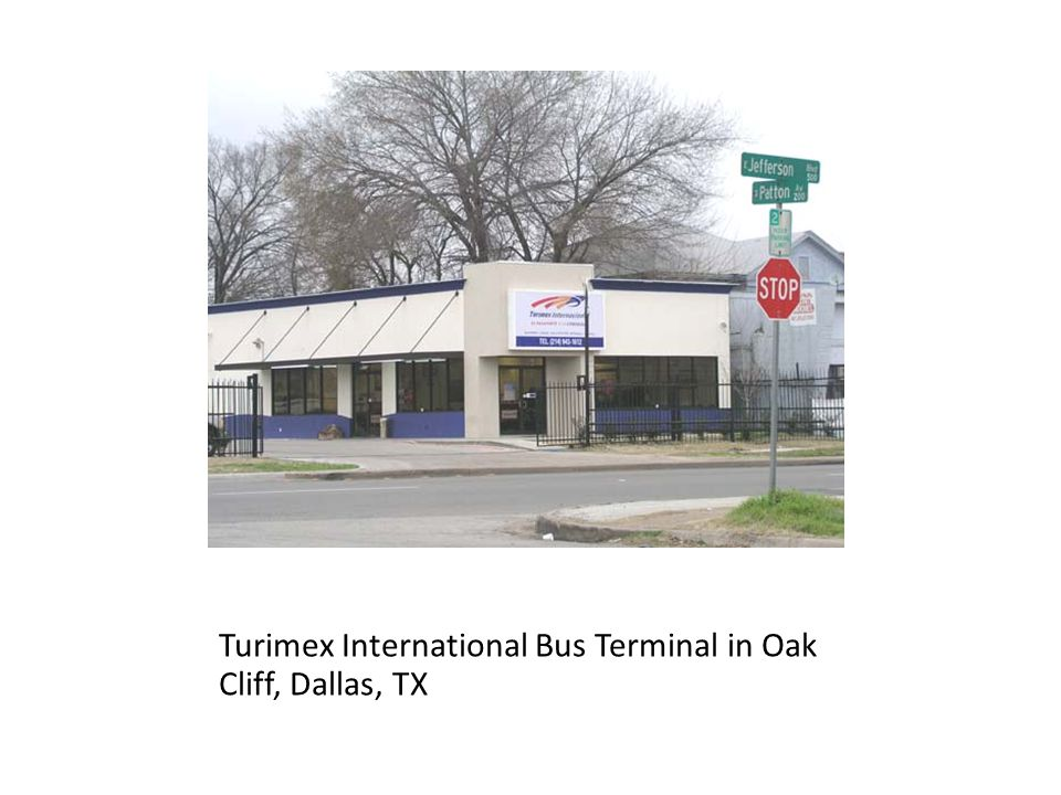 Turimex International Bus Terminal in Oak Cliff, Dallas, TX