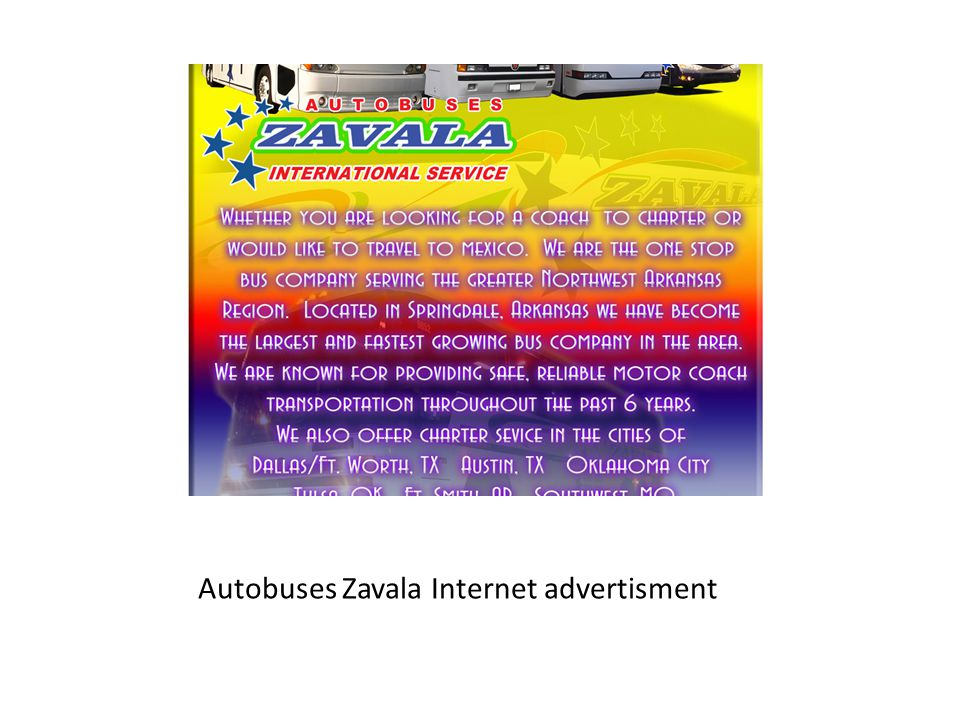 Autobuses Zavala Internet advertisment