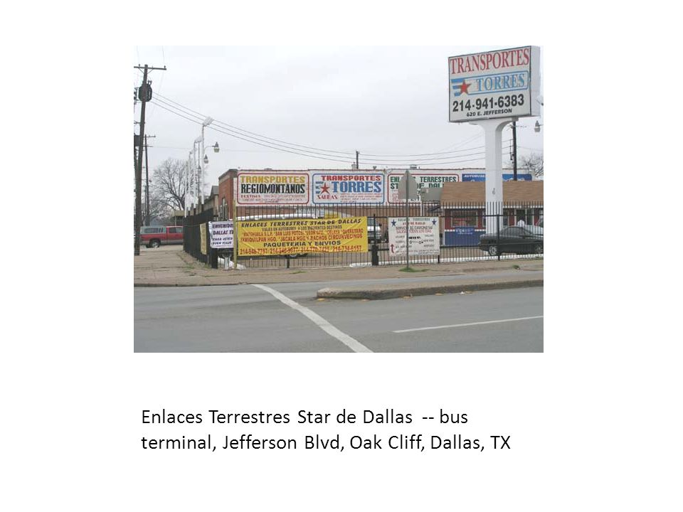 Enlaces Terrestres Star de Dallas -- bus terminal, Jefferson Blvd, Oak Cliff, Dallas, TX