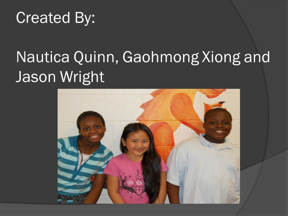 Created By: Nautica Quinn, Gaohmong Xiong and Jason Wright