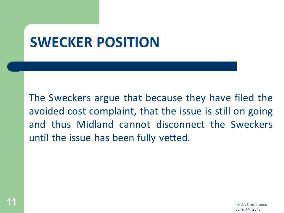 Swecker POSITION