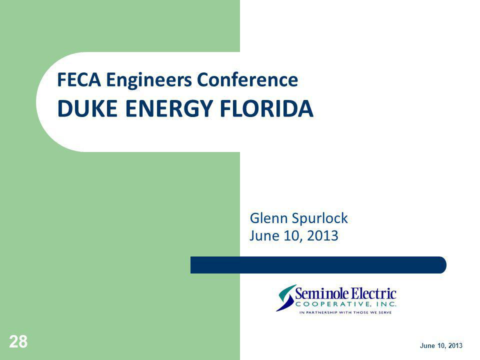 DUKE ENERGY FLORIDA FECA Engineers Conference Glenn Spurlock