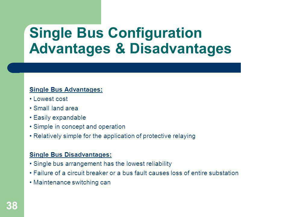 Single Bus Configuration Advantages & Disadvantages