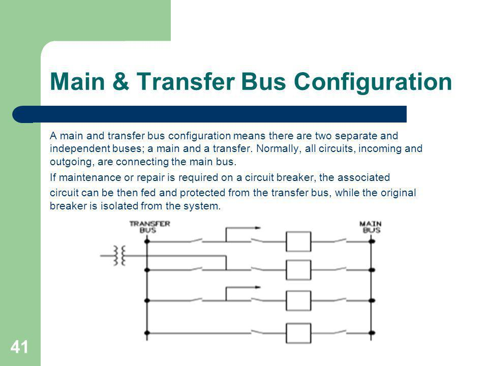 Main & Transfer Bus Configuration