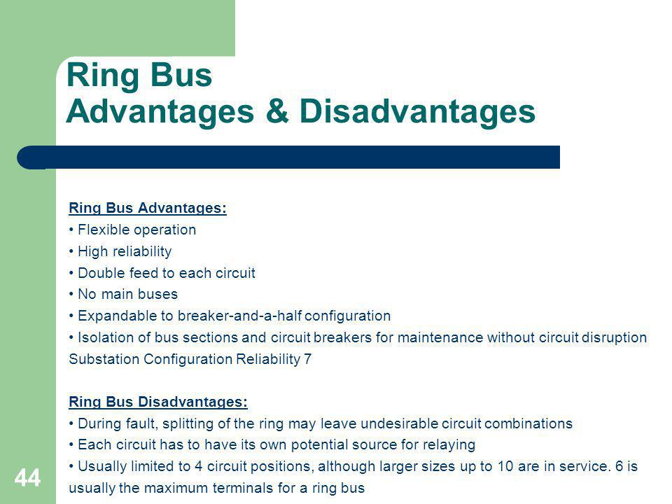 Ring Bus Advantages & Disadvantages