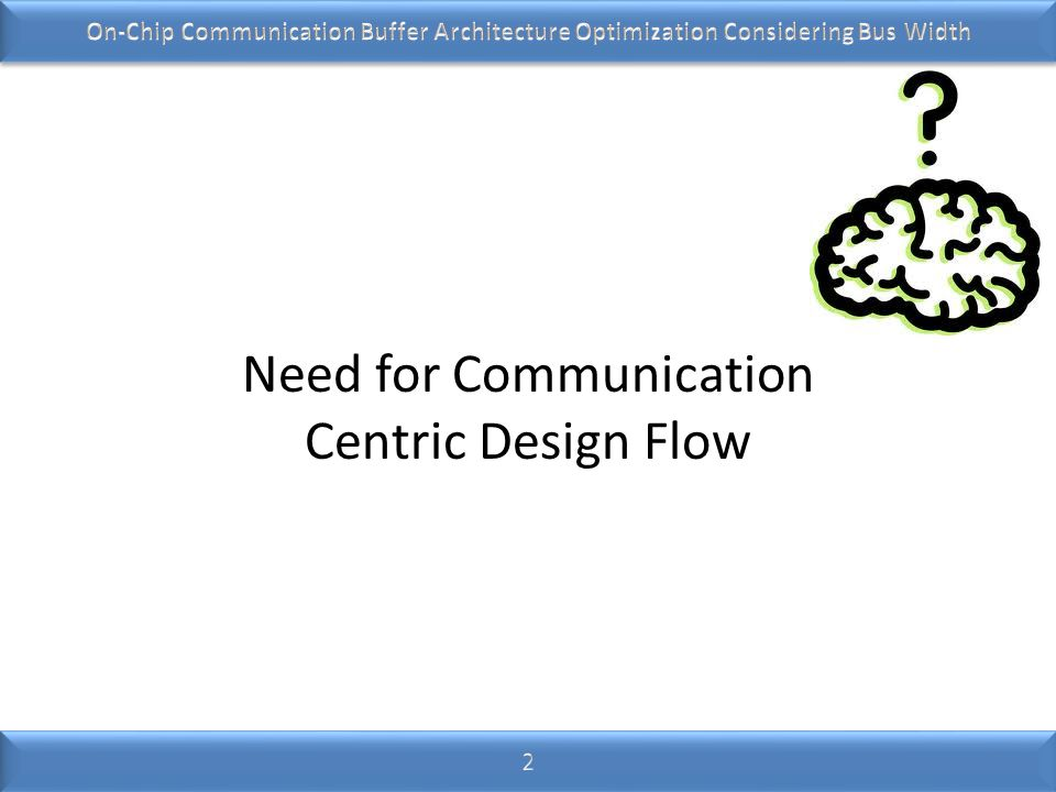 Need for Communication Centric Design Flow