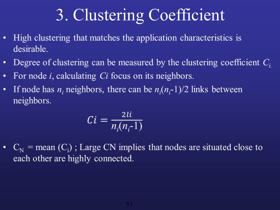 3. Clustering Coefficient