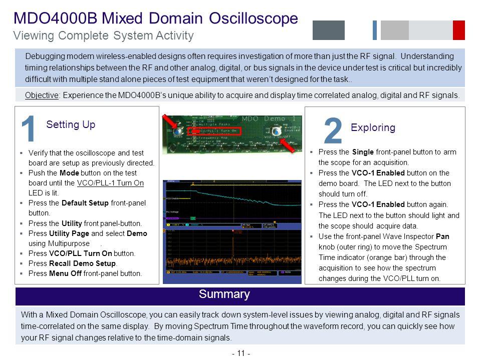 1 2 MDO4000B Mixed Domain Oscilloscope