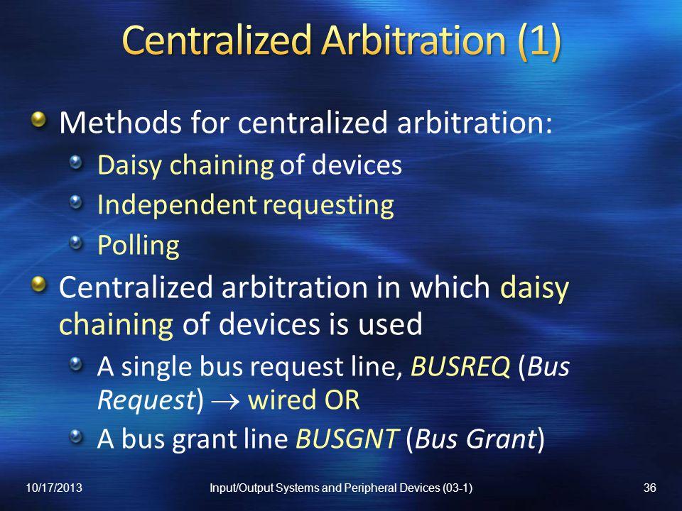 Centralized Arbitration (1)