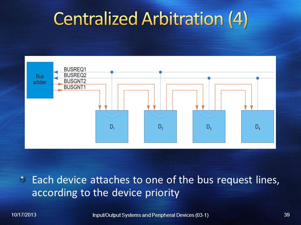 Centralized Arbitration (4)