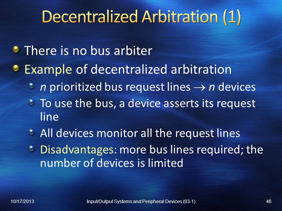 Decentralized Arbitration (1)