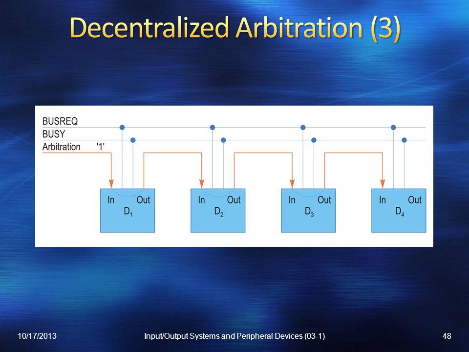 Decentralized Arbitration (3)