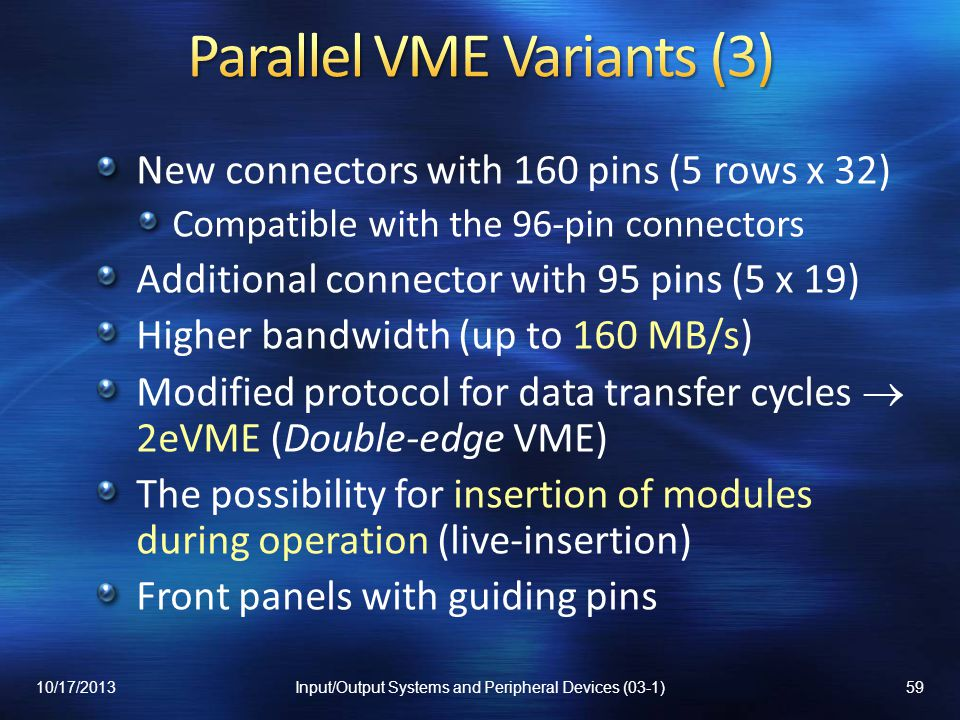 Parallel VME Variants (3)